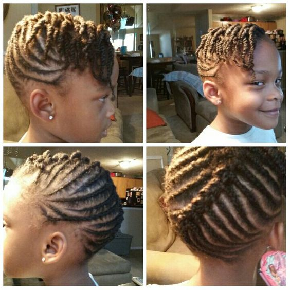 Updo Cornrow Style With Twisted Bangs Black Hair Tribe
