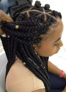 Crown Box Braids