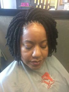Chin Length Crochet Kinky Twists