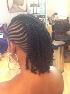 cornrows and two strand twists