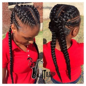 criss cross feed in cornrows