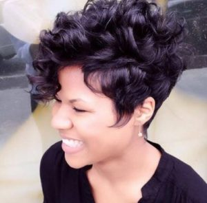 loose curl tapered cut