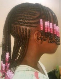 Classic Cornrows With Beads