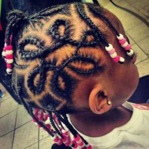 Cornrows With Intricate Design