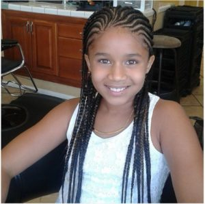 straight Back Cornrows With a Twist