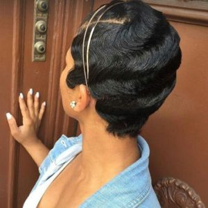 accessorized finger waves