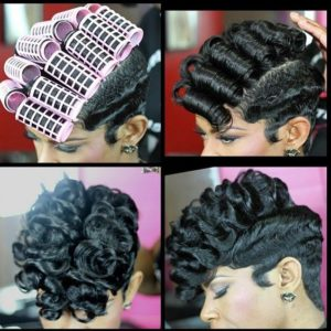 finger waves and curls