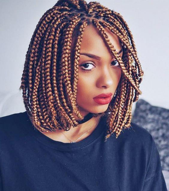 golden braided bob