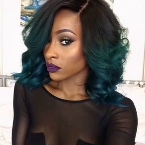 green ombre sew in