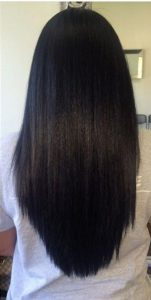 healthy straightened natural hair