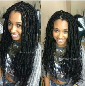 Goddess Locs With Middle Part
