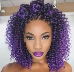 purple crochet braids