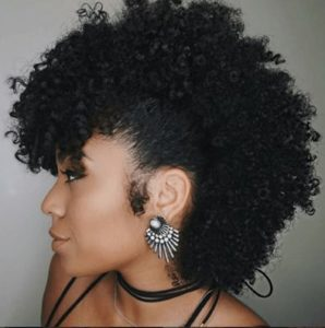 Frohawk with curled side burns