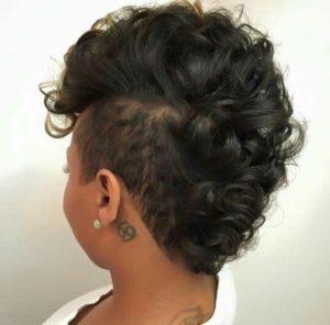 frohawk on straightened hair