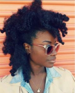 frohawk on stretched hair