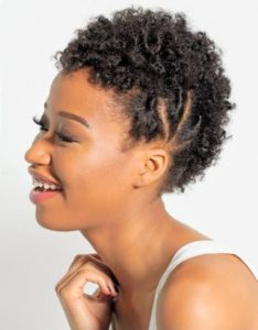 short frohawk with flat twists