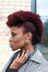 textured red frohawk