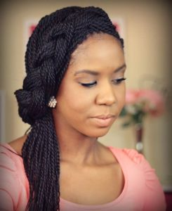 thin rope twists with side braid