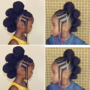 tuck and roll frohawk with braided bangs