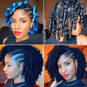 Braid Out With Cornrows