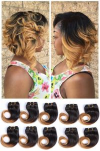 Ombre Stacked Bob Sew In