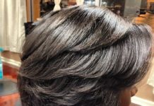 dominican blowout shiny hair