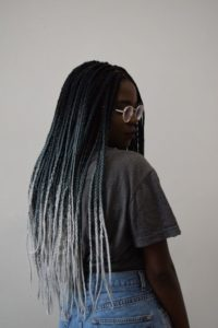 Grey Ombre Box Braids