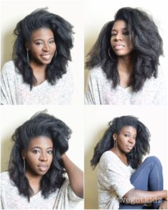 blow drying natural hgair