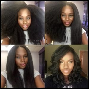 blowdry natural black hair