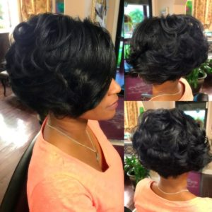 full textured sew in bob