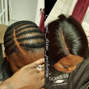 sew in bob braid pattern