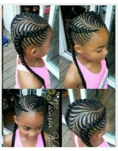 Curved Fishbone Braids Pigtails
