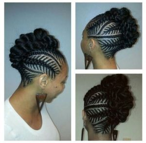Fishbone Braids Frowhawk