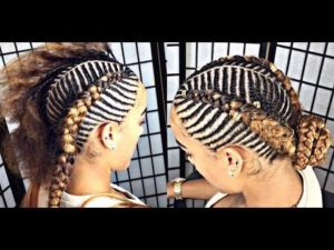 Fishbone Braids Low Bun
