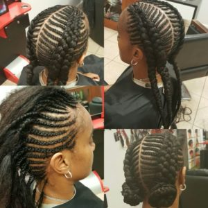 Fishbone Braids Pigtails