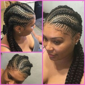Fishbone Braids Side Ponytail