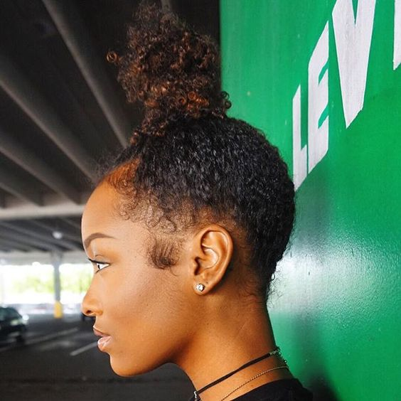 Curly Bun Natural Hair Bun Styles