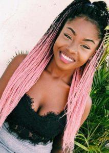 pink ombre box braids