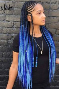 Blue Lemonade Braids