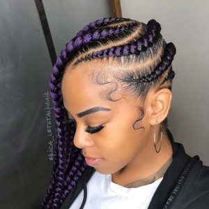 Chunky Purple Lemonade Braids