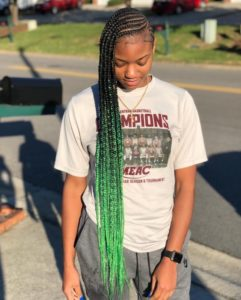 Green Ombre Lemonade Braids