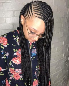 Lemonade Braids With Side Part