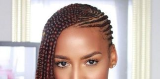 Reddish Brown Lemonade Braids