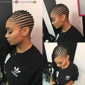 Sideswept Black Lemonade Braids