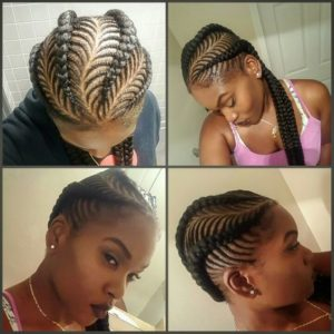 Sideswept Fishbone Braids