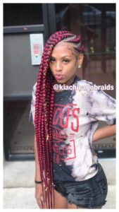 Thick Red Lemonade Braids