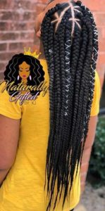 Triangle Box Braids WIth Braided Cor