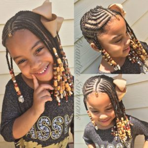 Beaded Tribal Braids With Bow