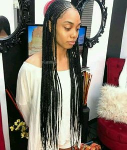 Middle Parted Tribal Braids