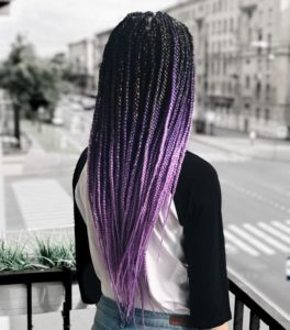 Ombre Lavender Box Braids